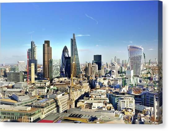 City Of London Skyline Canvas Print by Vladimir Zakharov