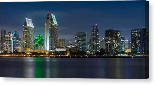 San Diego Canvas Print - City Of San Diego Skyline 2 by Larry Marshall