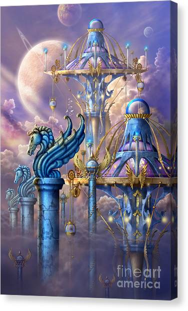 Pegasus Canvas Print - City Of Swords by Ciro Marchetti