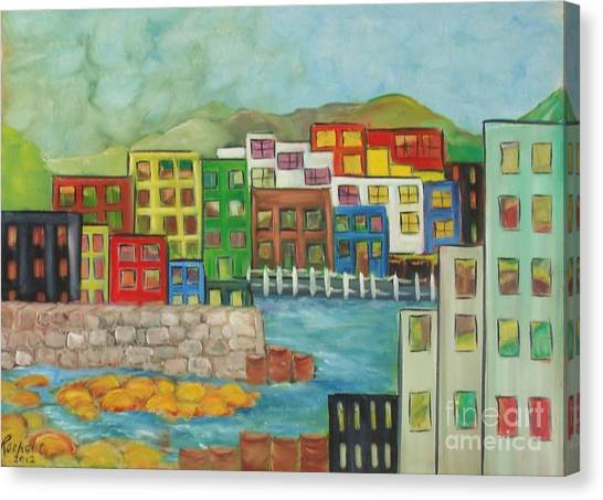City On The Canal Canvas Print