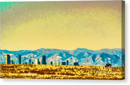 City On The Plains Canvas Print