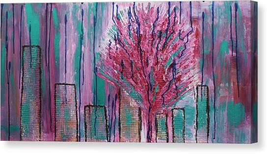 City Pear Tree Canvas Print
