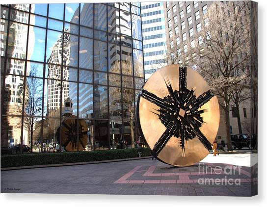 City Reflections - Charlotte Nc Canvas Print