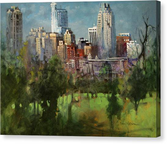 City Set On A Hill Canvas Print