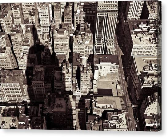 City Shadow Canvas Print