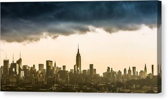 City Storm Canvas Print