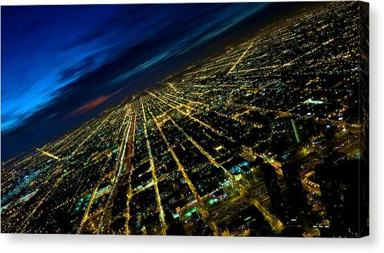 City Street Lights Above Canvas Print