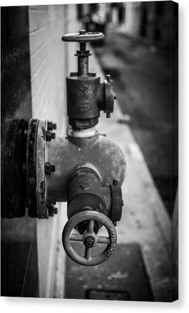 City Valves Canvas Print