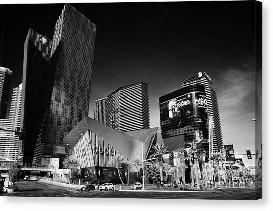 Veer Canvas Print - citycenter development including the veer towers and cosmopolitan Las Vegas Nevada USA by Joe Fox