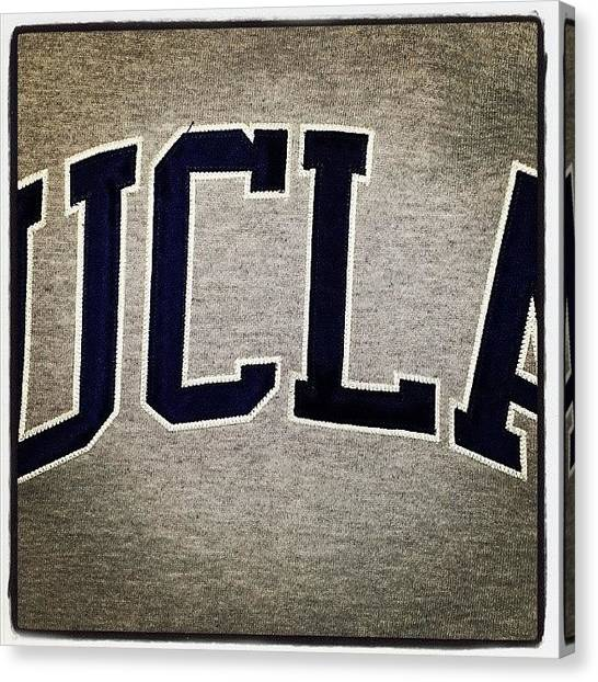 Ucla Canvas Print - @cityofangels My Favourite #hoodie! by Sabrina P