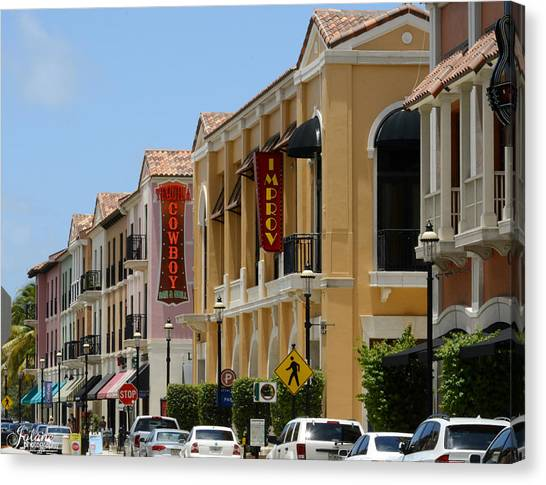 Cityplace Street Canvas Print