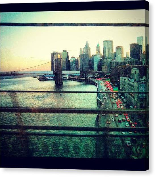 Karma Canvas Print - City's Busy Life •• #commute by Karma Sherpa