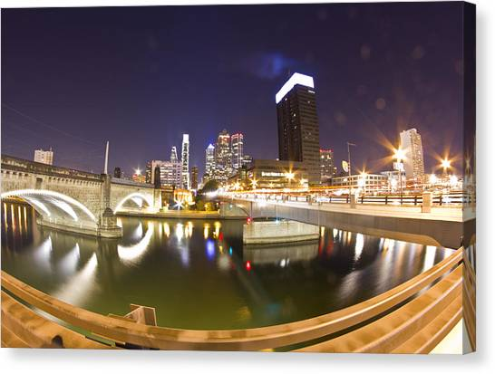 City's Reflection Canvas Print