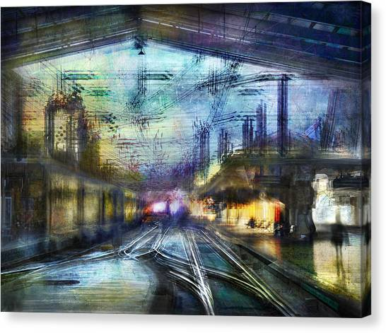 Cityscape #37 - Crossing Lines Canvas Print