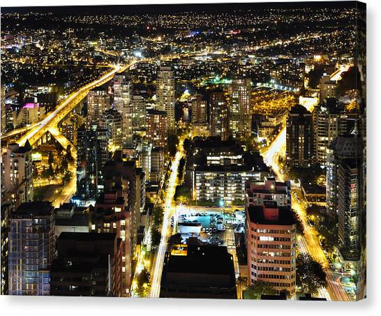Cityscape Golden Burrard Bridge Mdlxiv Canvas Print
