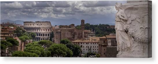 Rome Italy Cityscape Canvas Print
