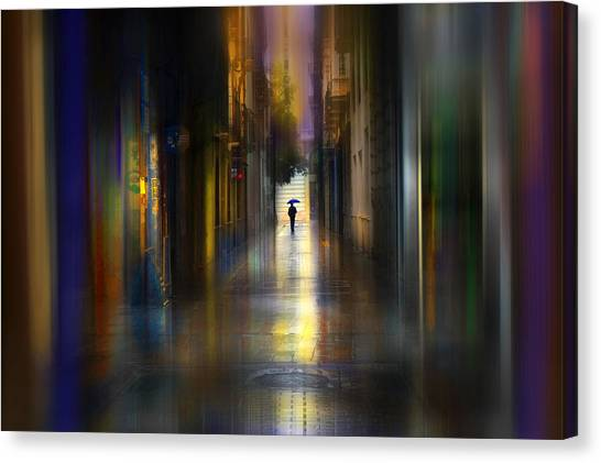 Wet Canvas Print - Cityscape by Sol Marrades