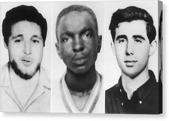 Andrew Canvas Print - Civil Rights Workers Murdered by Underwood Archives