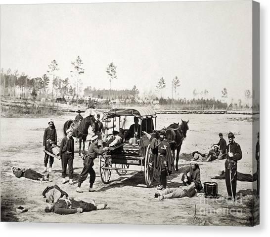 Army Of The Potomac Canvas Print - Civil War: Ambulance, 1864 by Granger