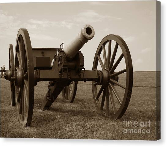 Confederate Army Canvas Print - Civil War Cannon by Olivier Le Queinec