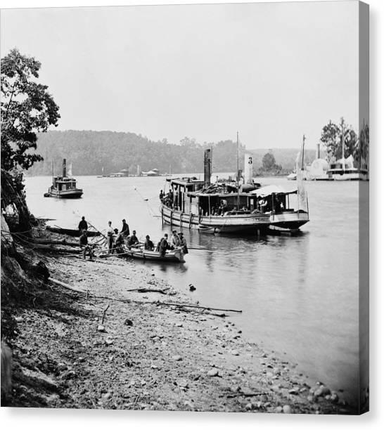 Philadelphia Union Canvas Print - Civil War Federal Navy by Granger