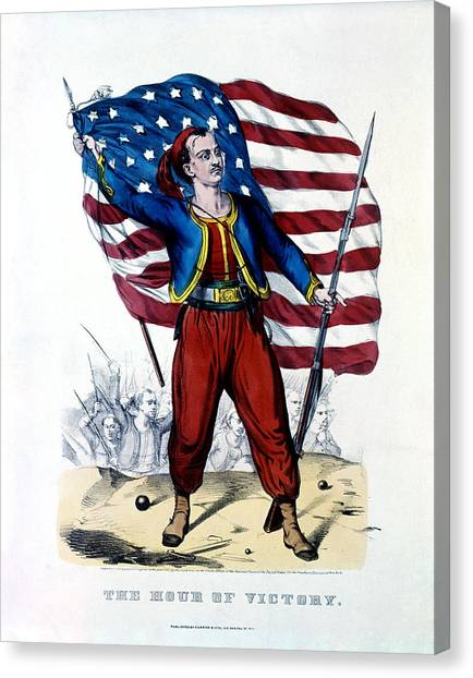 Volunteer Infantry Canvas Print - Civil War New York Zouave by Historic Image