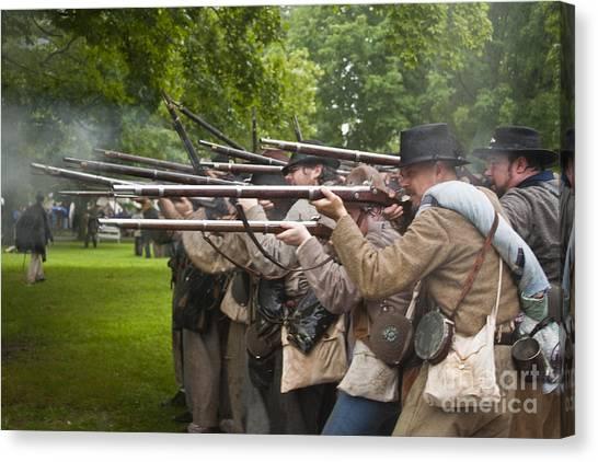 Civil War Reenactment 1 Canvas Print