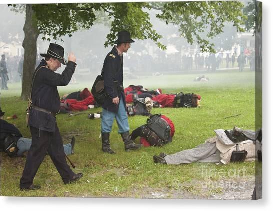 Civil War Reenactment 4 Canvas Print