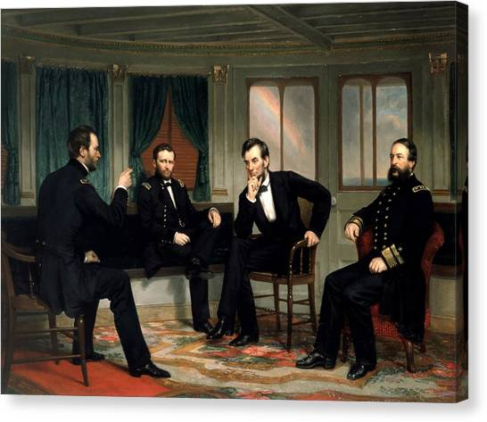 U. S. Presidents Canvas Print - Civil War Union Leaders -- The Peacemakers by War Is Hell Store