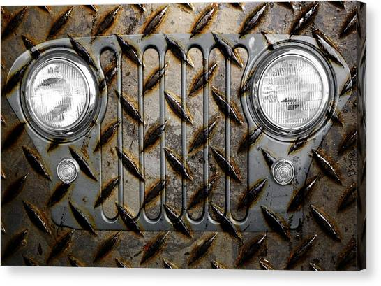 Civilian Jeep- Steel Gray Canvas Print
