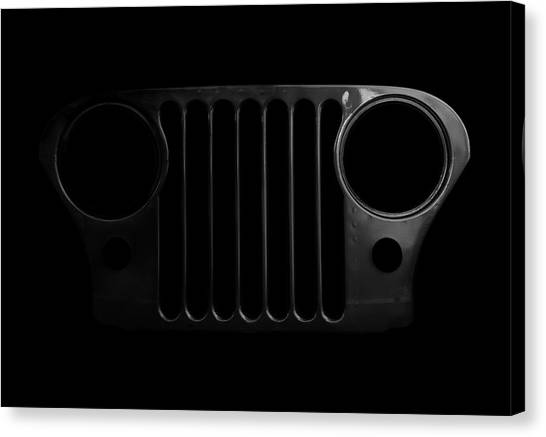 Offroading Canvas Print - Cj Grille- Fade To Black by Luke Moore