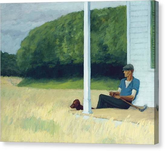 Clams Canvas Print - Clamdigger by Edward Hopper