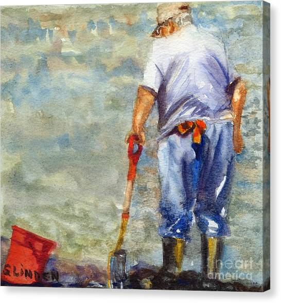 Clamdigger Canvas Print