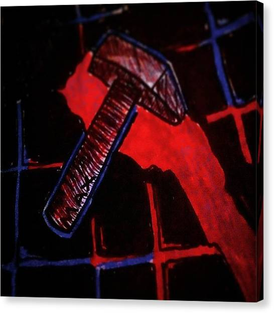 Hammers Canvas Print - Clang! Clang! Maxwell's Silver Hammer by Chase Alexander