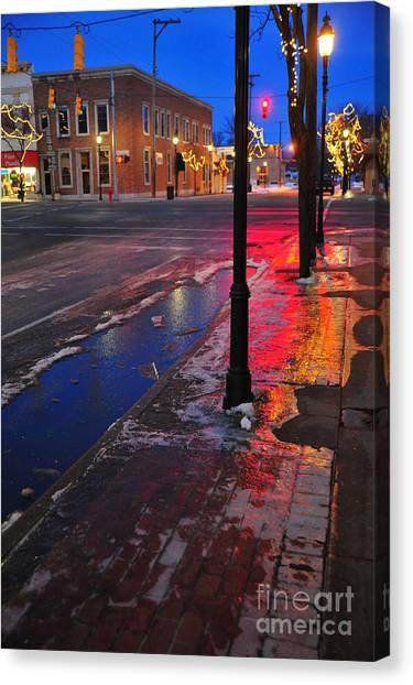 Clare Michigan At Christmas 10 Canvas Print