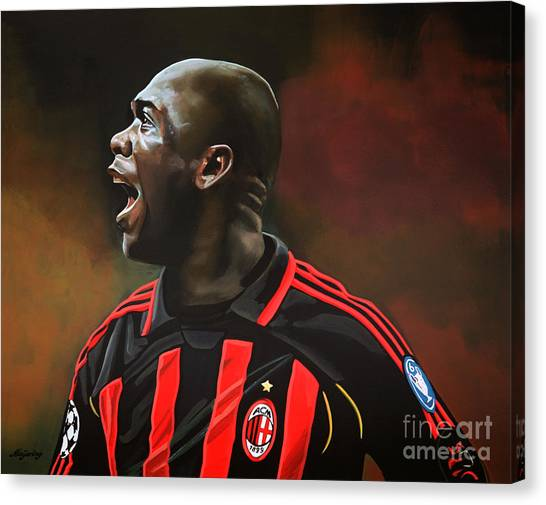 Ac Milan Canvas Print - Clarence Seedorf by Paul Meijering