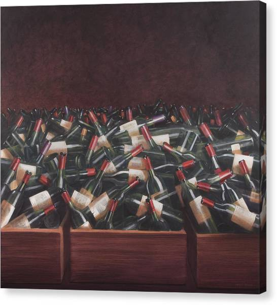 Bar Canvas Print - Claret Tasting by Lincoln Seligman