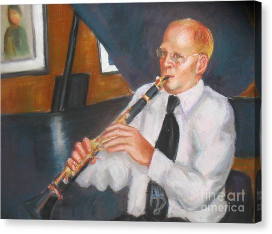 Clarinet At Palm Court Canvas Print