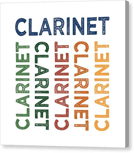 Clarinets Canvas Print - Clarinet Cute Colorful by Flo Karp