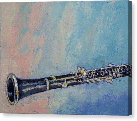 Clarinets Canvas Print - Clarinet by Michael Creese