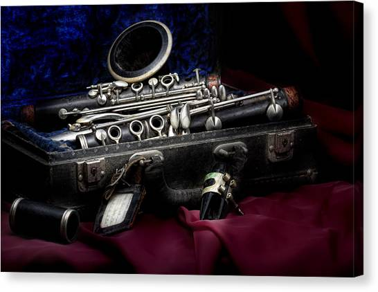 Clarinets Canvas Print - Clarinet Still Life by Tom Mc Nemar