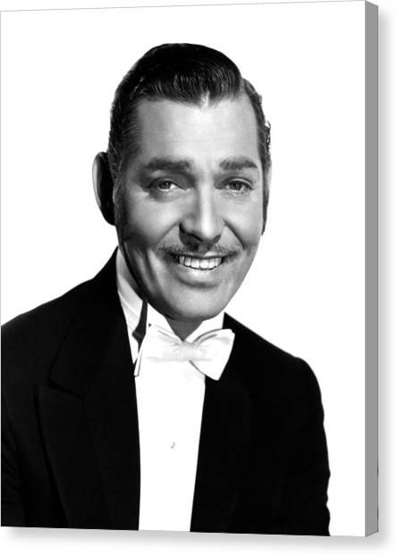 Tuxedo Canvas Print - Clark Gable by Silver Screen