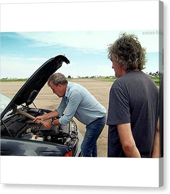 Hammers Canvas Print - Clarkson Fixing His Car... #topgear by John Lowery-brady