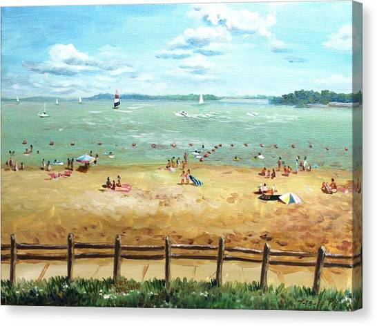 Carlyle Lake Beach In Il Canvas Print