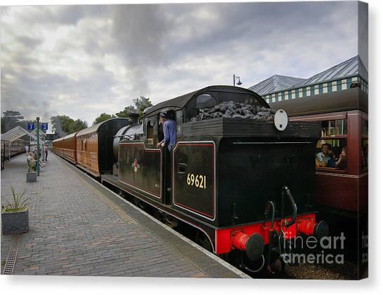 Class N7 0 6 0 2t 69621 Tank Locomotive Canvas Print by Simon Pocklington