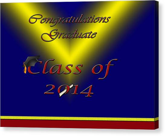 Class Of 2014 Card Canvas Print