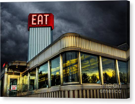 Diners Canvas Print - Classic American Diner by Diane Diederich