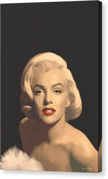 Marilyn Monroe Canvas Print - Classic Beauty In Graphic Gray by Chris Consani