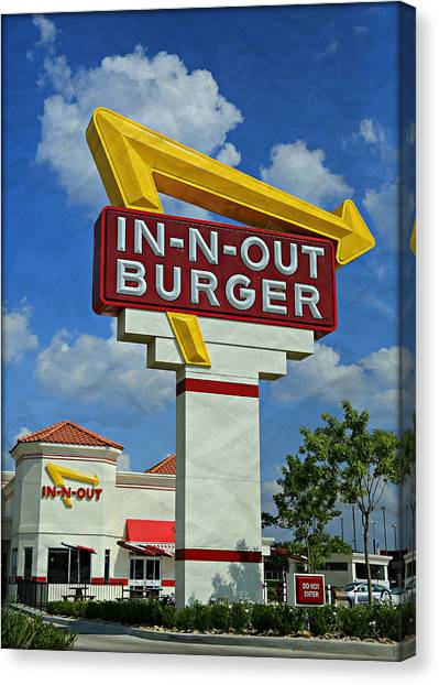 Bacon Canvas Print - Classic Cali Burger 1.1 by Stephen Stookey
