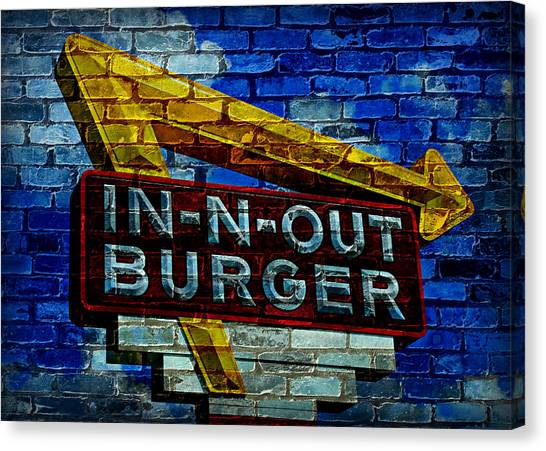 Bacon Canvas Print - Classic Cali Burger 2.4 by Stephen Stookey
